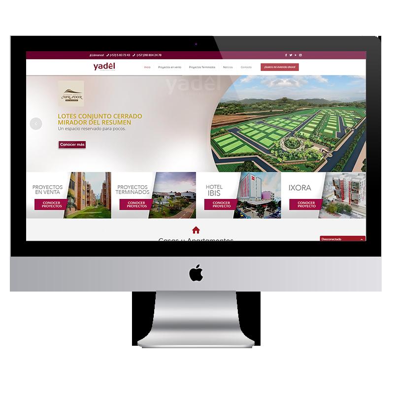 yadel constructora pagina web Colorama Agencia